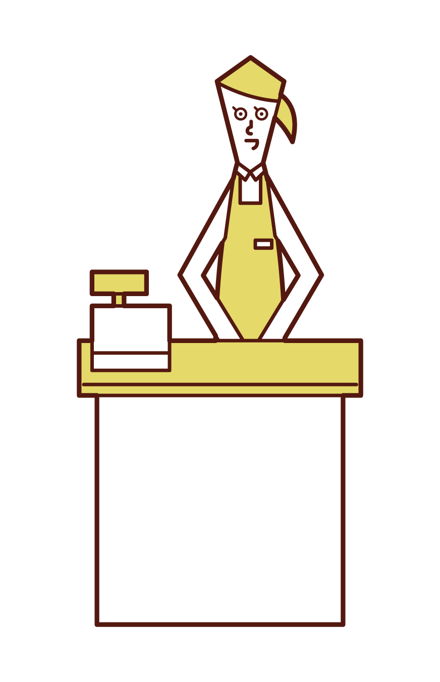 Illustration of a clerk (woman)