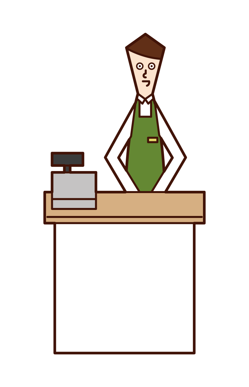 Illustration of a clerk (male)