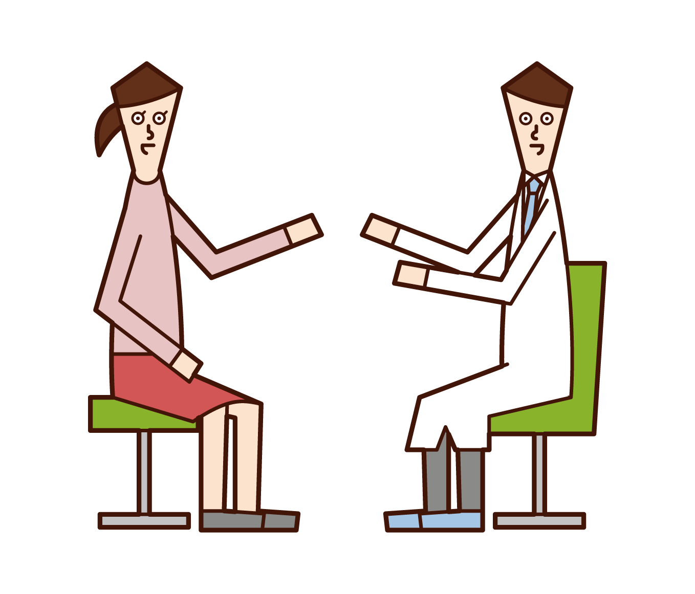Illustration of a psychological counselor and clinical psychologist (man)
