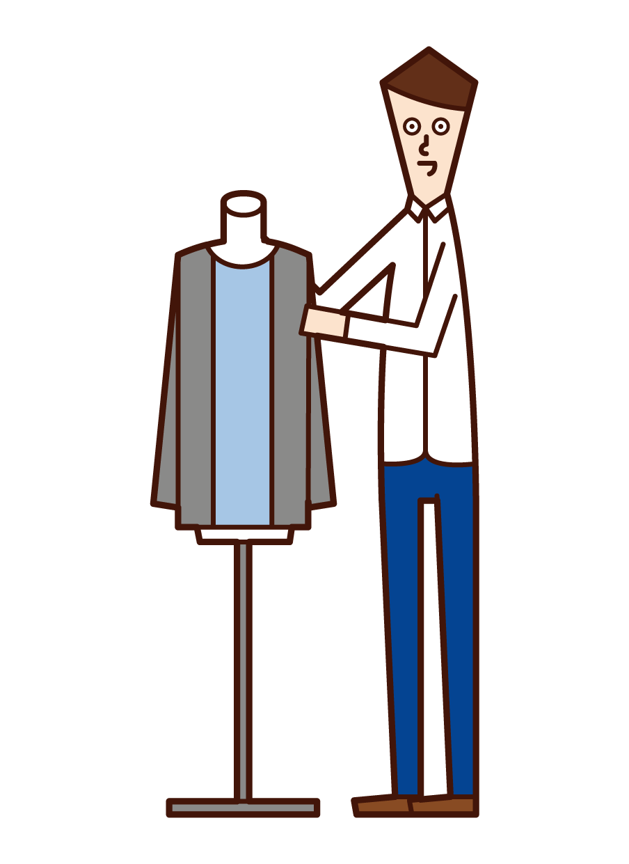 Illustration of fashion coordinator (man)