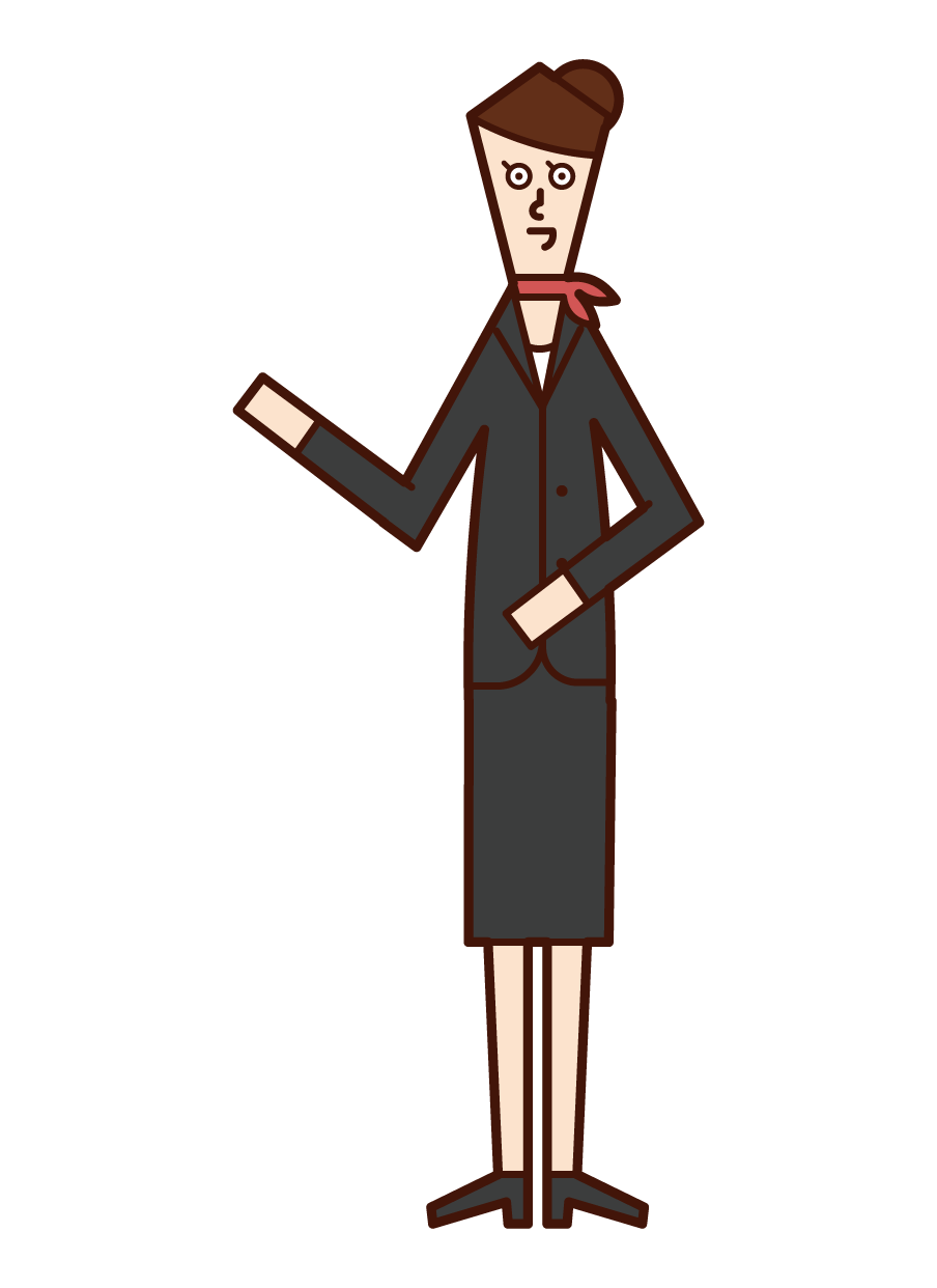 Illustration of receptionist (woman)