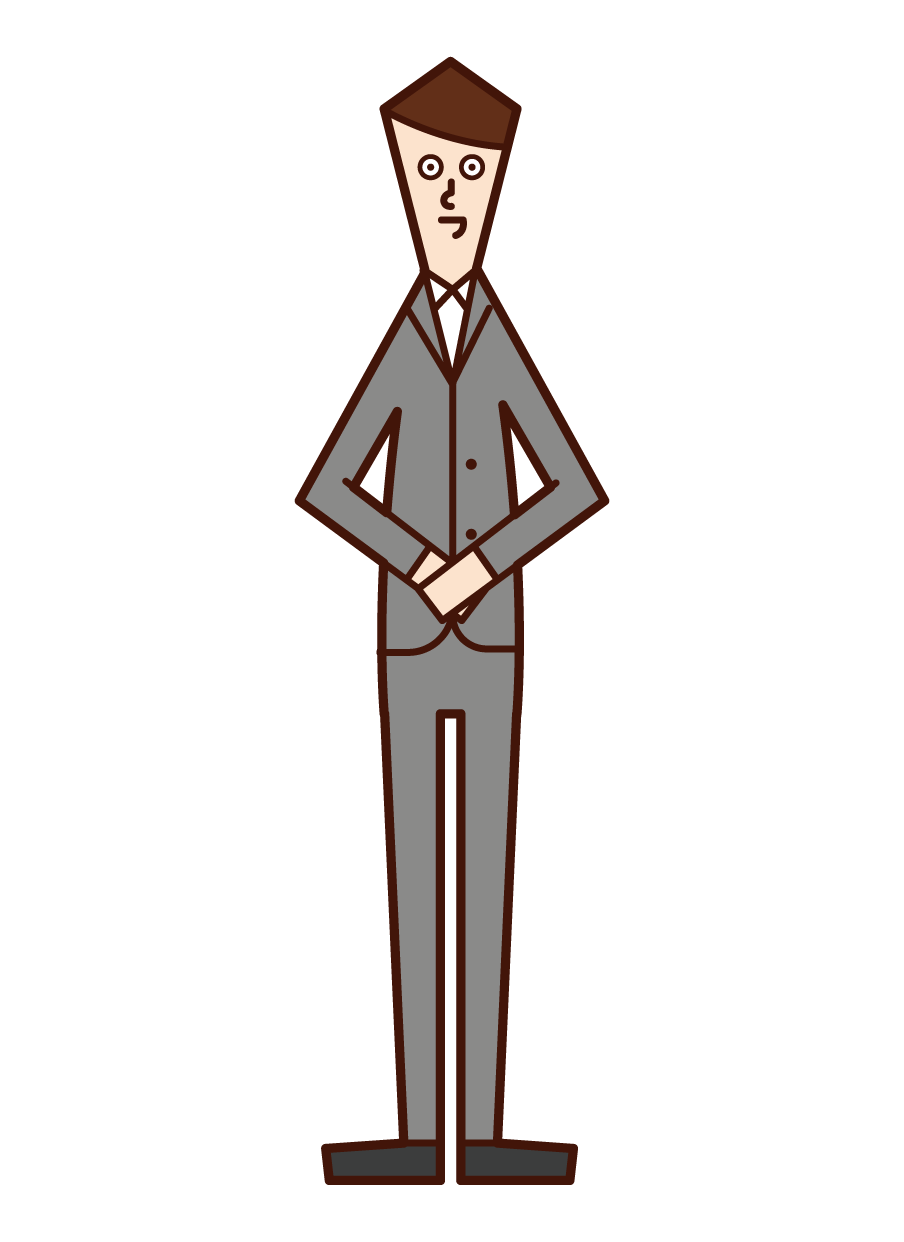 Illustration of receptionist (man)