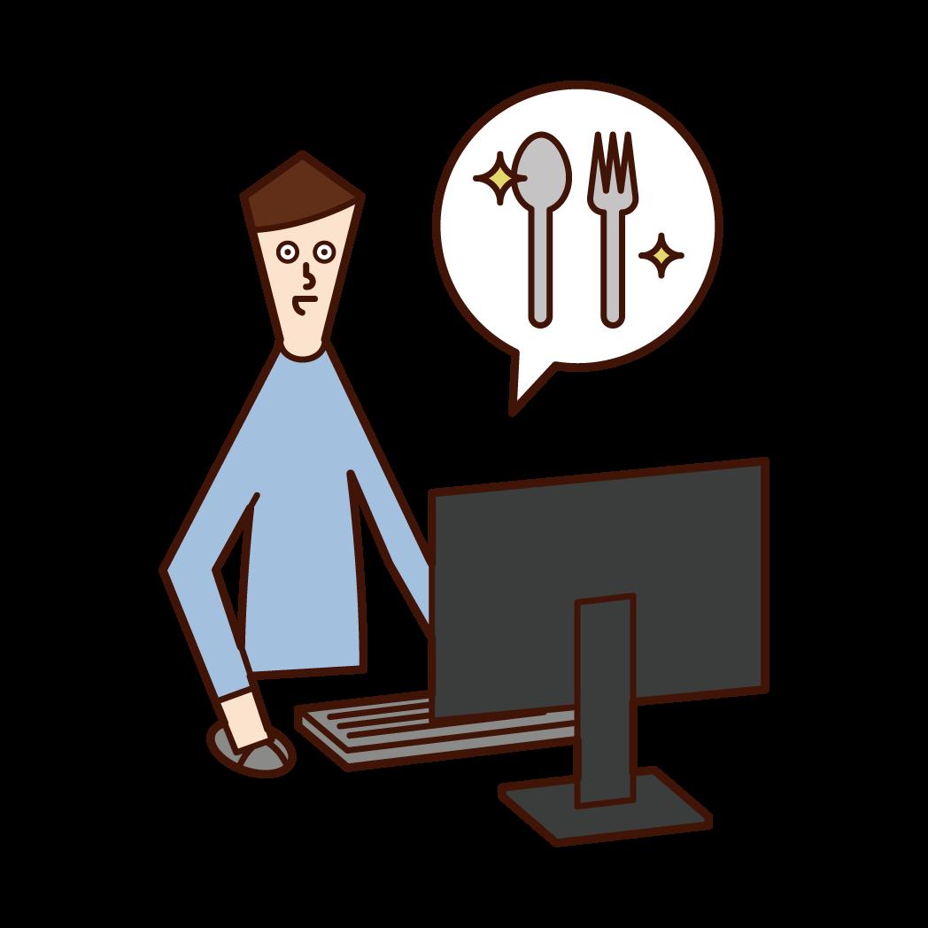 Illustration of a general goods designer (man)
