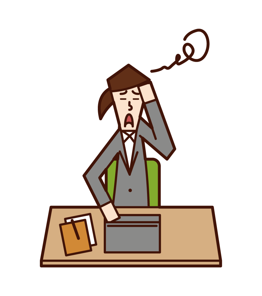 Illustration of a woman at work