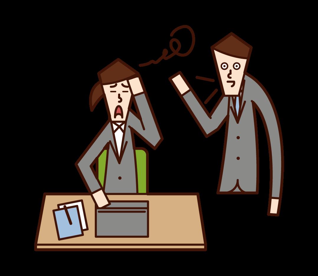 일을 방해하는 사람 (남성)의 그림