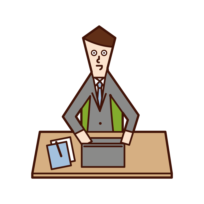 Illustration of a man who is working