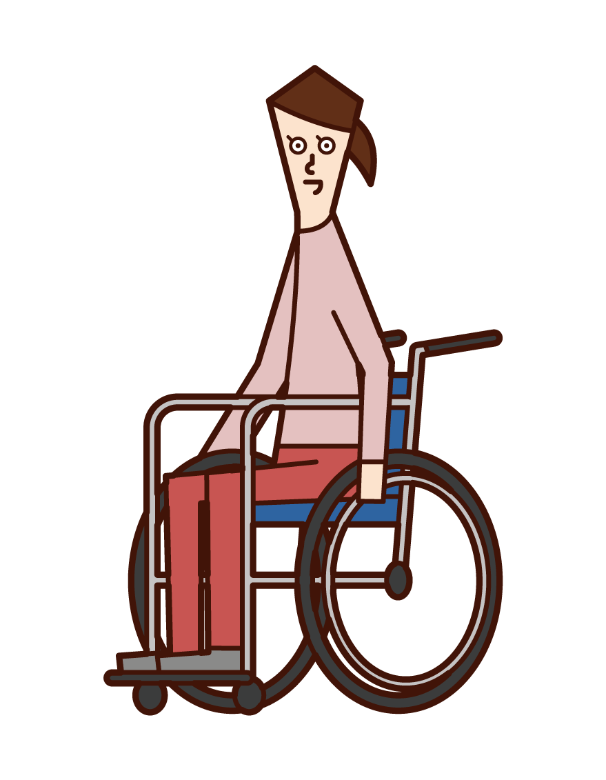 Illustration of a woman in a wheelchair