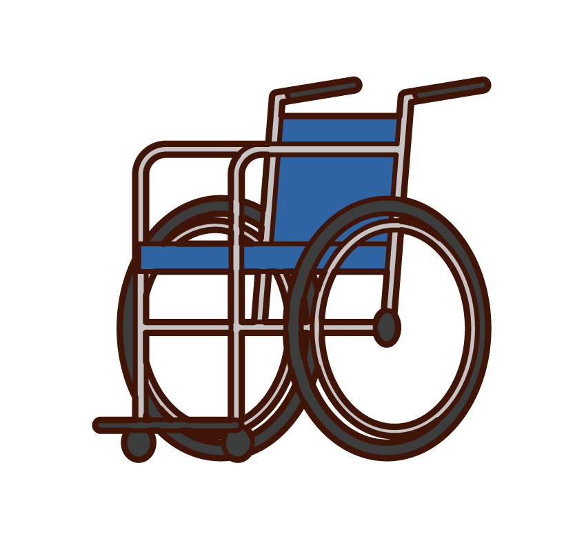 Illustration of wheelchair