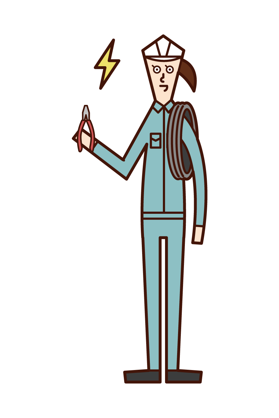 Illustration of electrician (woman)