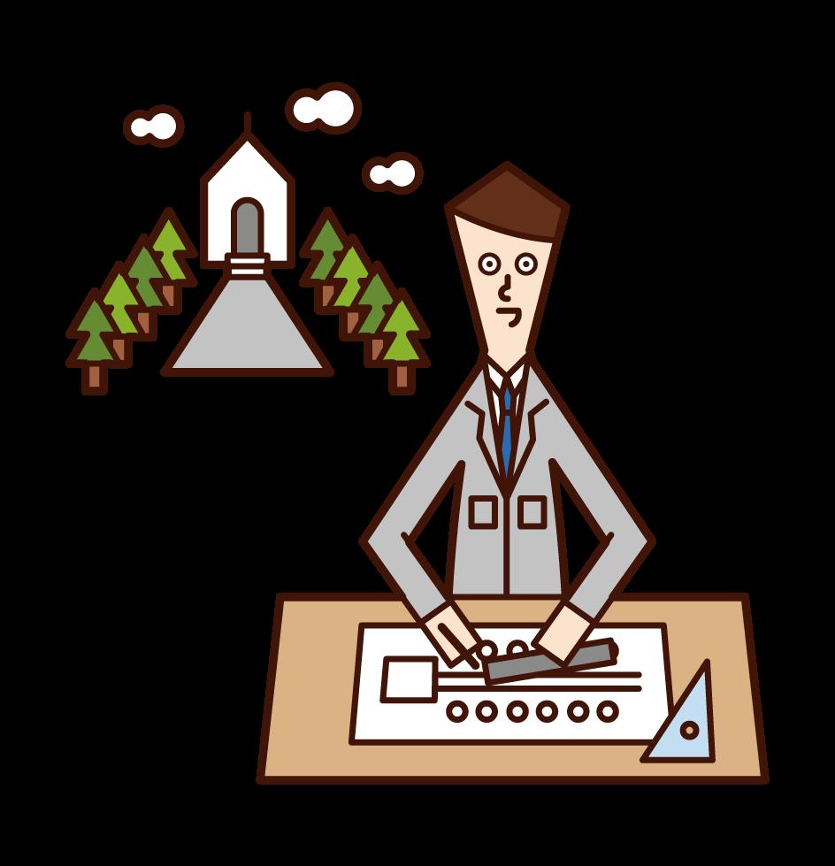 Illustration of environmental design (man)