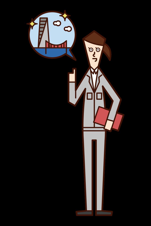 Illustration of design design (woman)