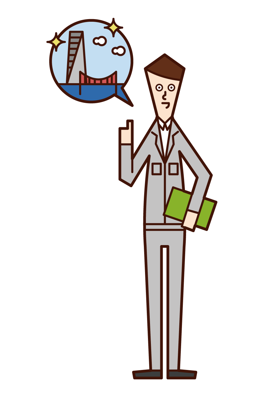 Illustration of design design (man)
