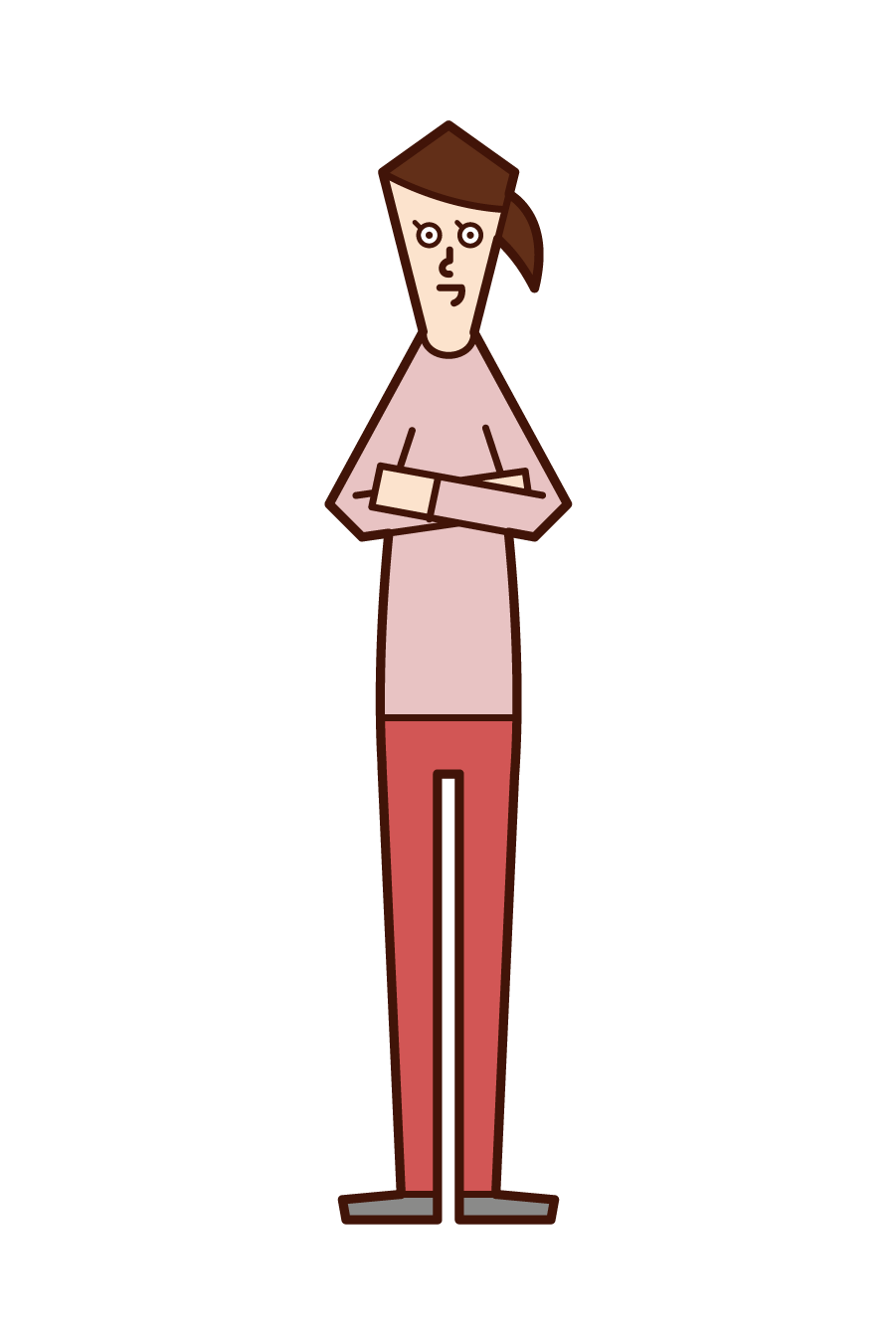 Illustration of a person (woman) with arms folded