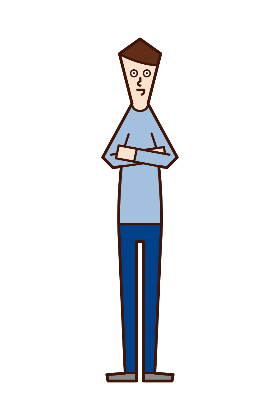Illustration of a man with his arms folded