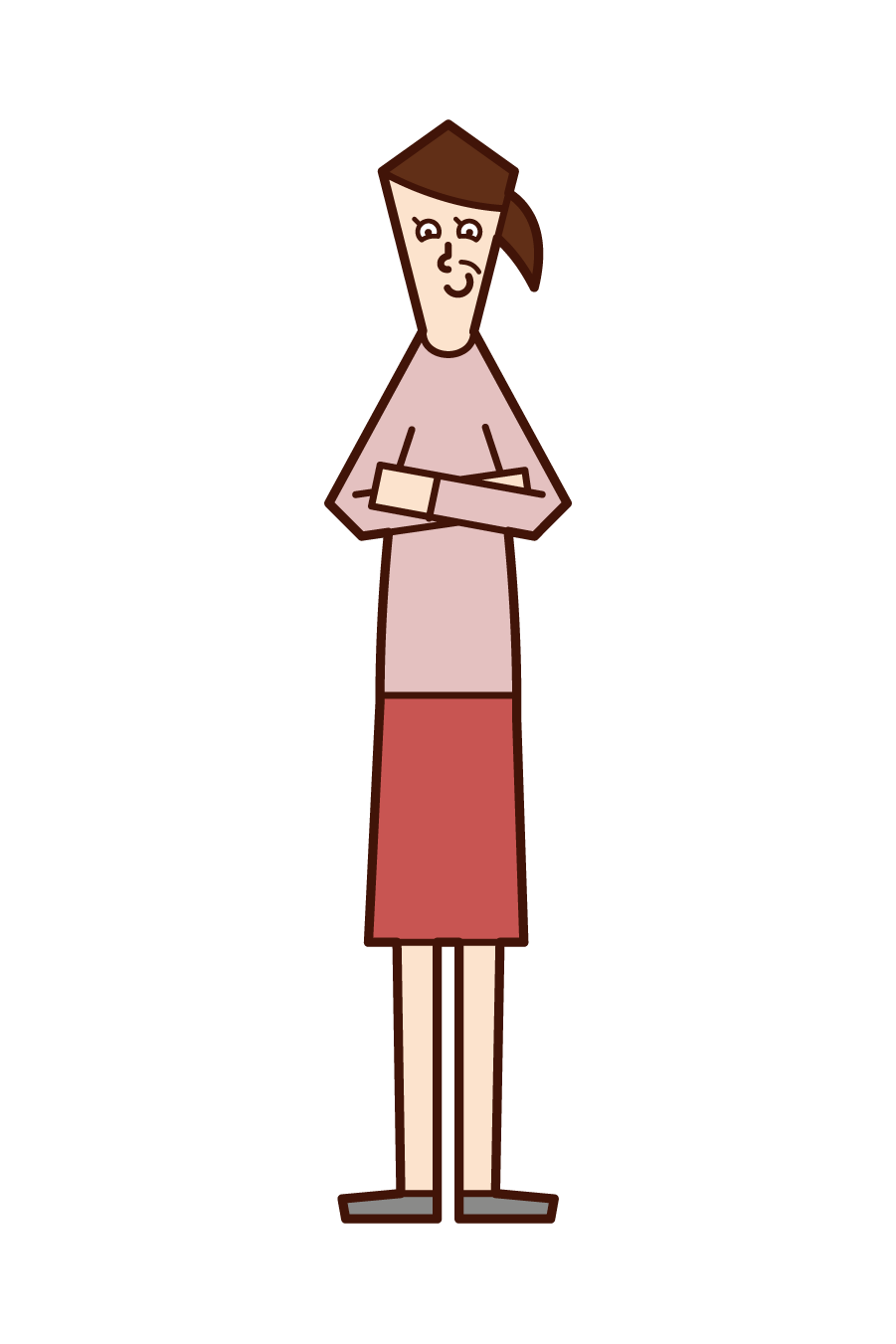 Illustration of a condescending person (woman)