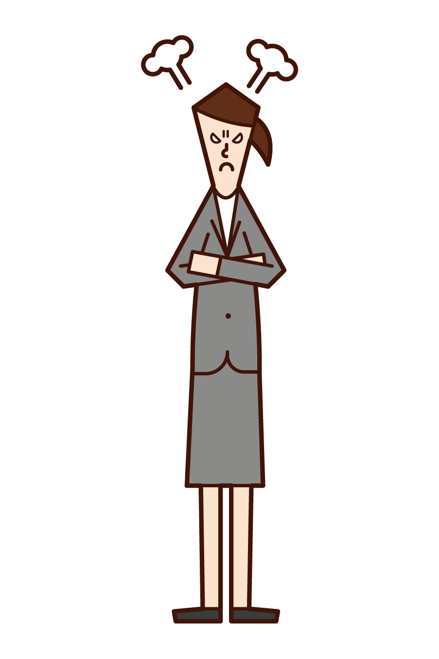 Illustration of an angry person (female)