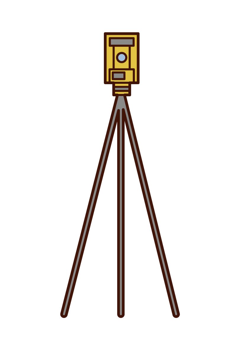 Surveying machine illustration