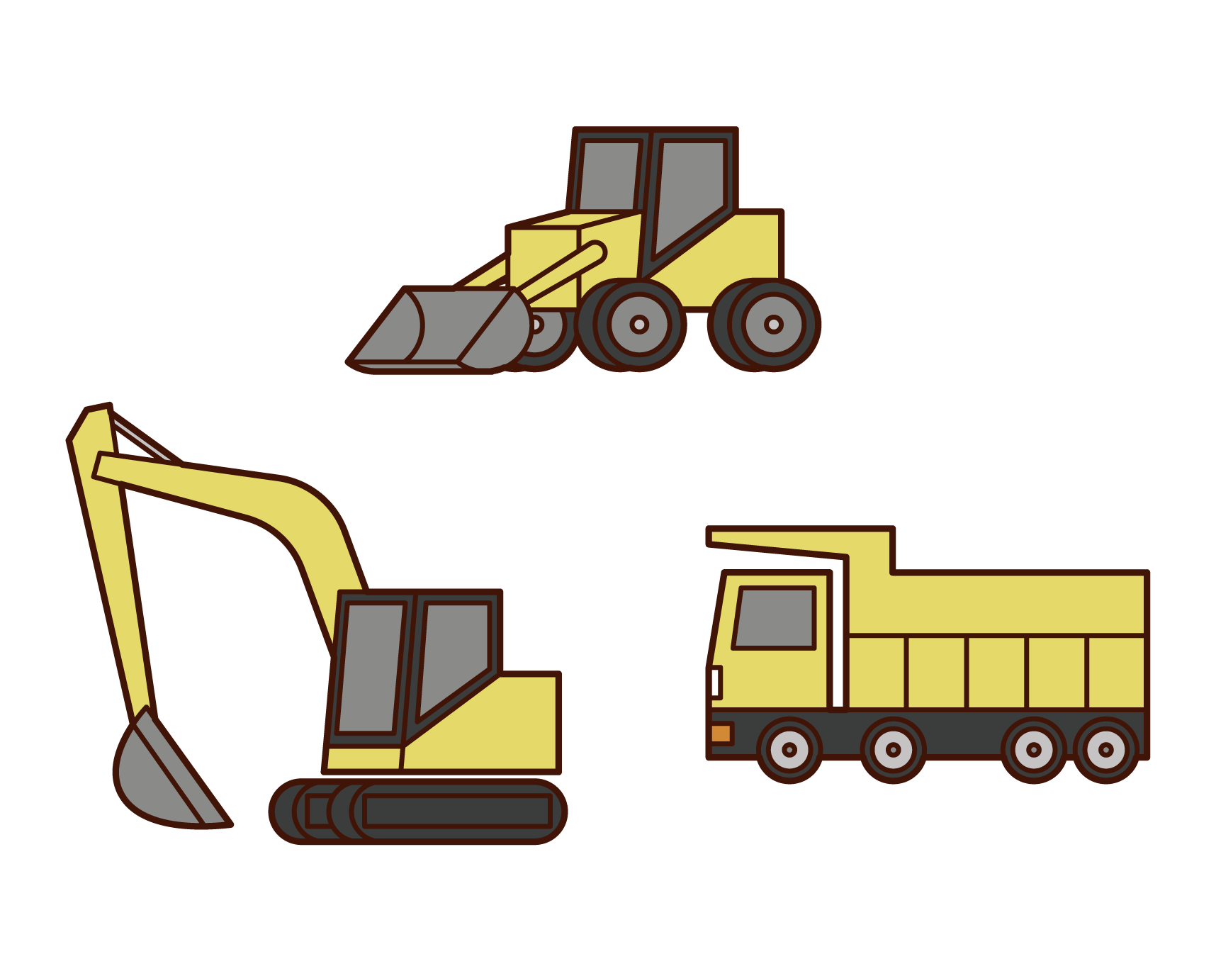 Heavy machinery illustration
