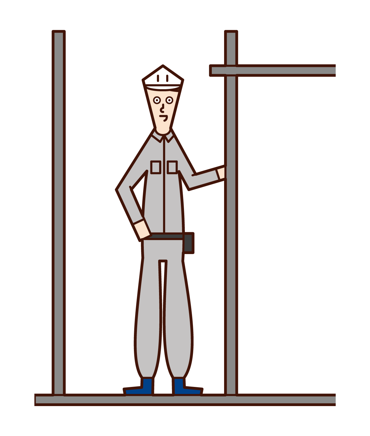 Illustration of scaffolding craftsman (man)
