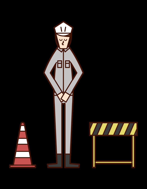 건설 중 (남성)의 그림