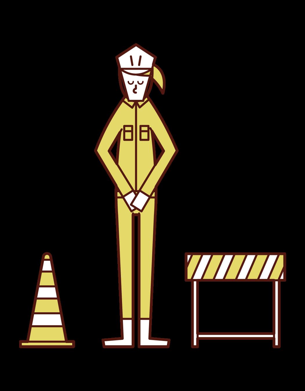 施工期間(女性)的插圖