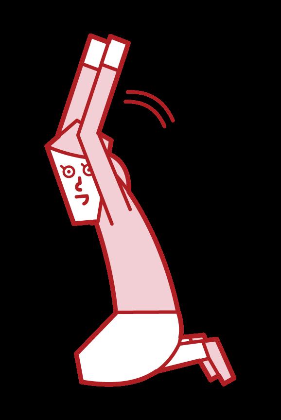 祈禱者(女性)的插圖