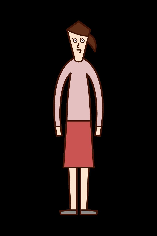 人(女性)のイラスト