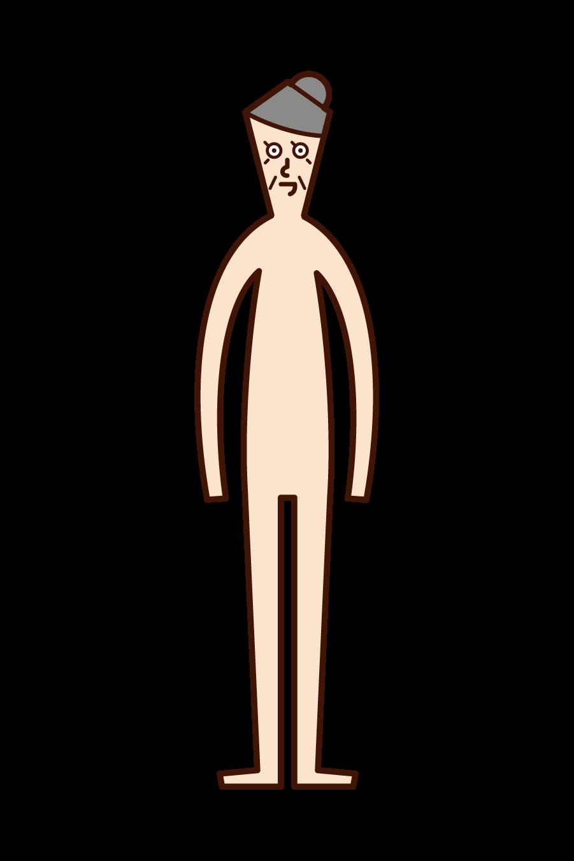 인체 (할머니)의 그림