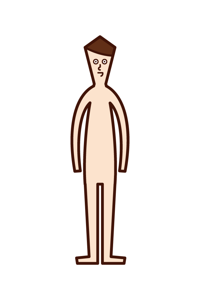 Illustration of human body (boy)