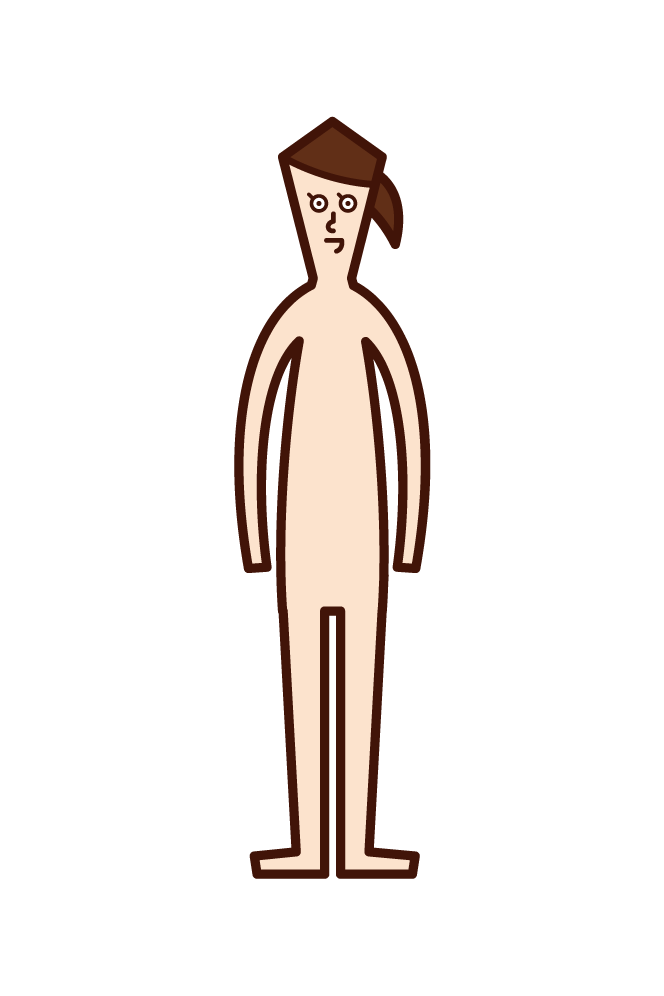 Illustration of human body (girls)