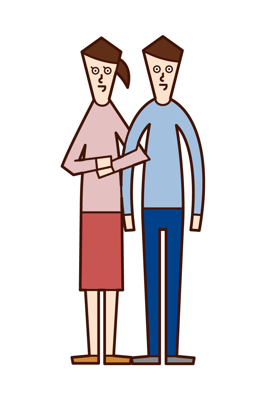 Illustration of a good couple