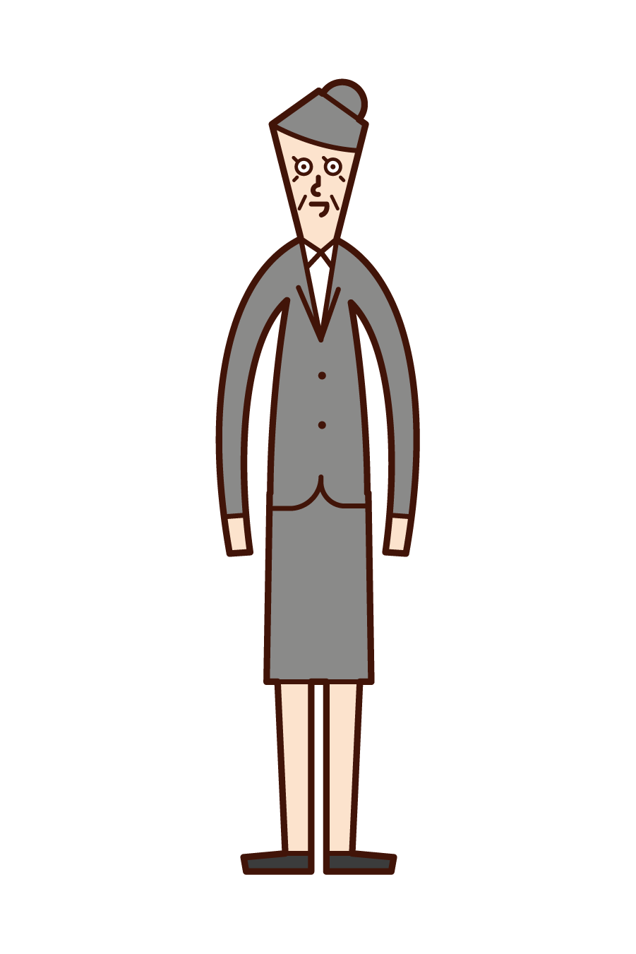 Illustration of grandmother in suit