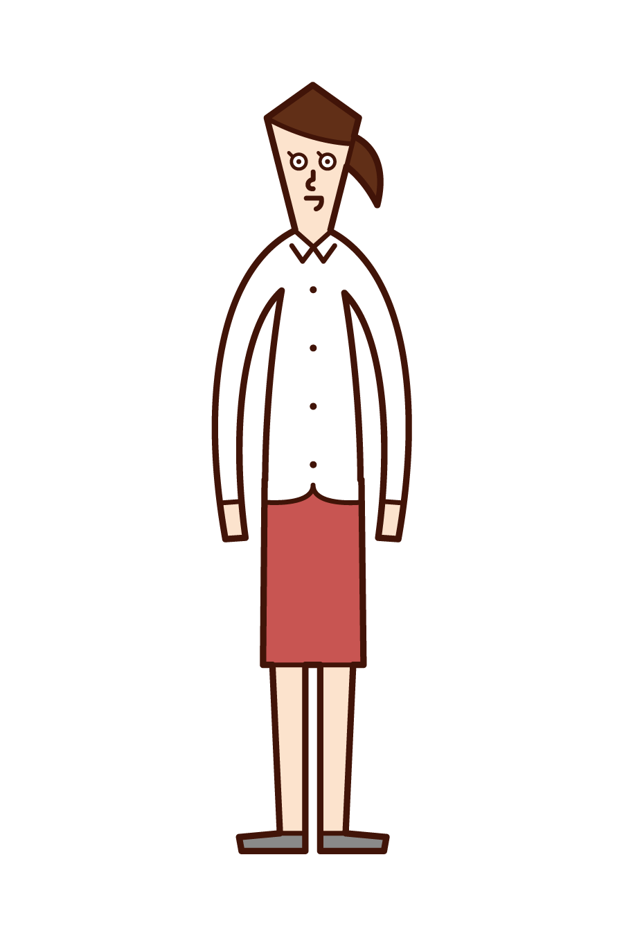 Illustration of a woman in a shirt