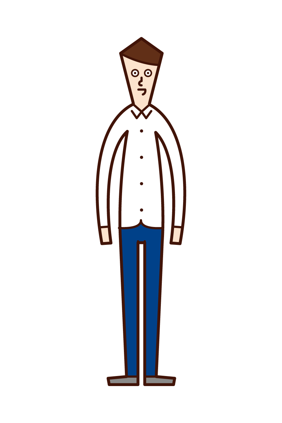 Illustration of a shirtless person (man)