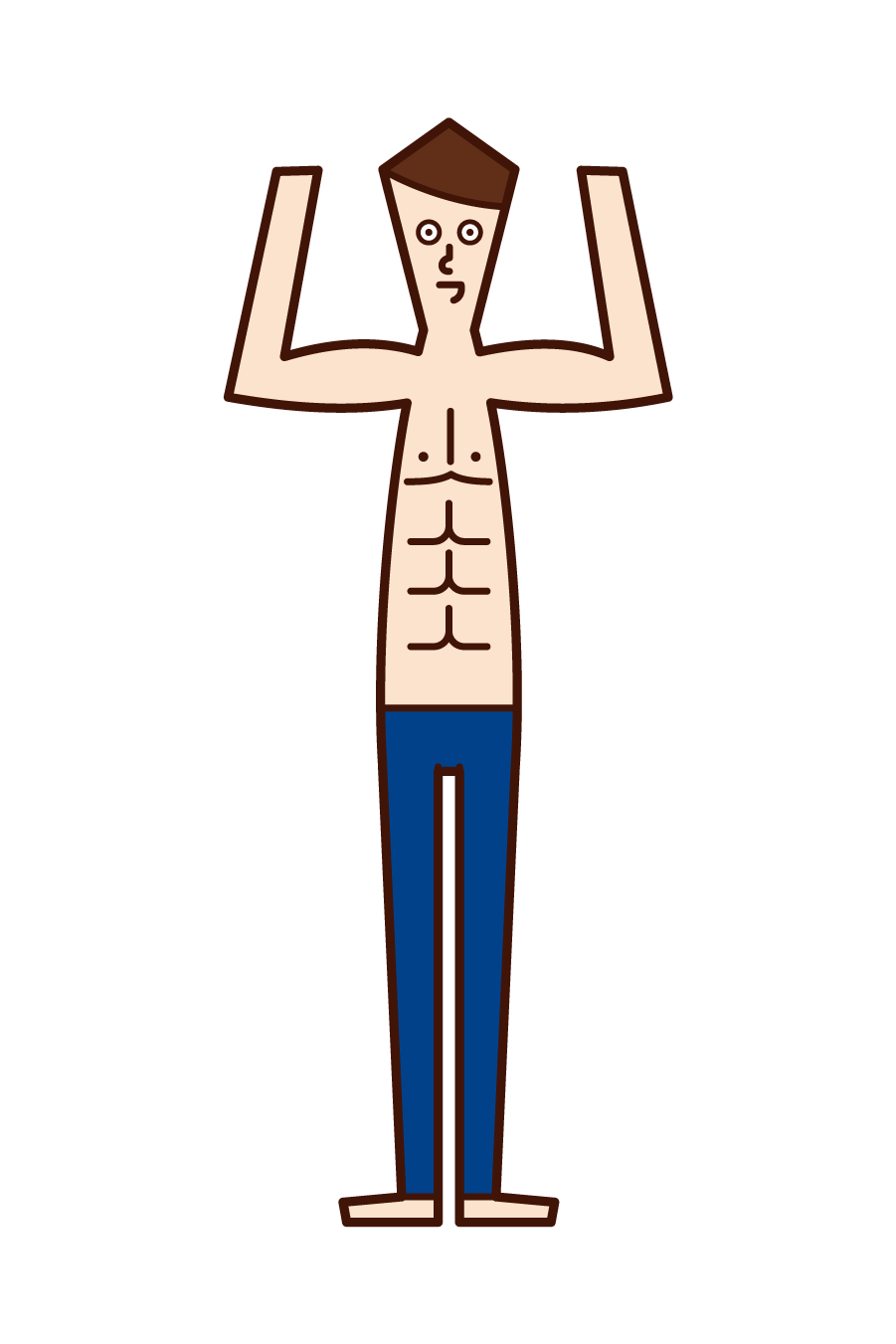 Illustration of a muscular person (man)