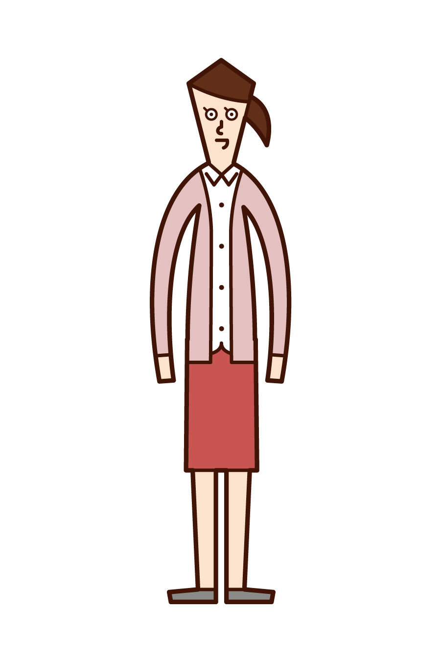 Illustration of a woman wearing a cardigan