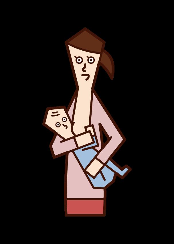 授乳する母親のイラスト