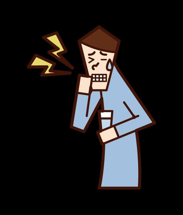 Illustration of hypersensitivity (man)