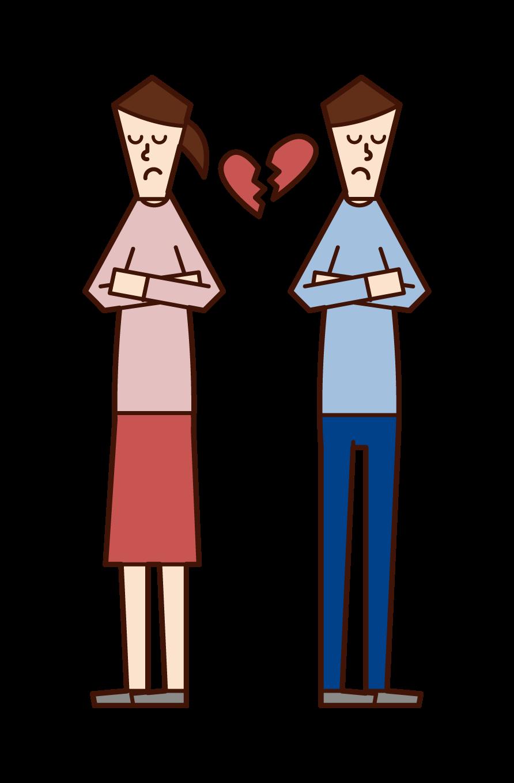 離婚のイラスト