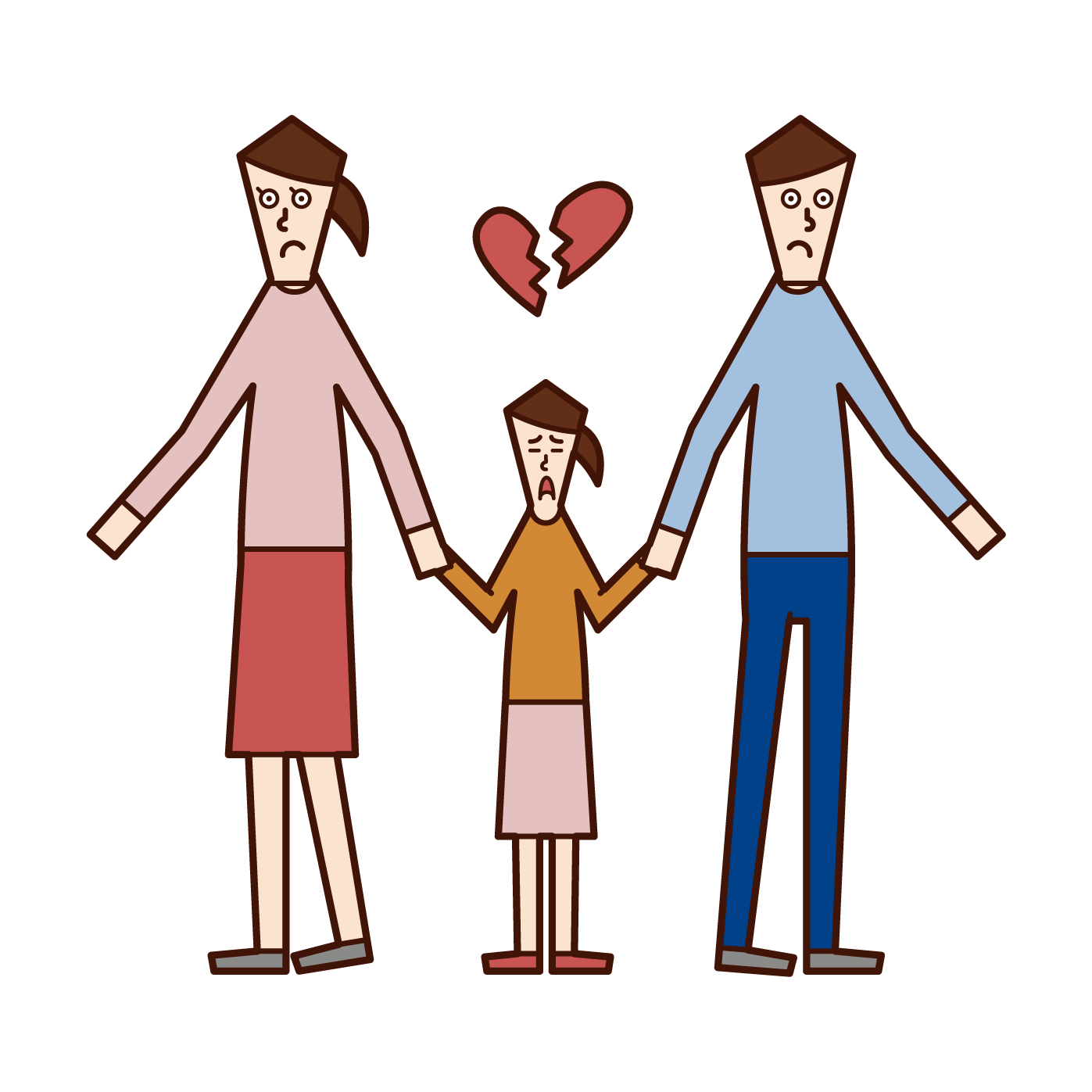 Illustration of custody at the time of divorce