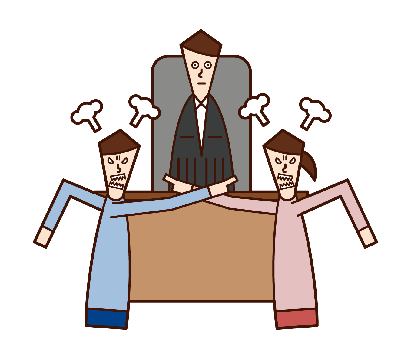 離婚調停・裁判のイラスト