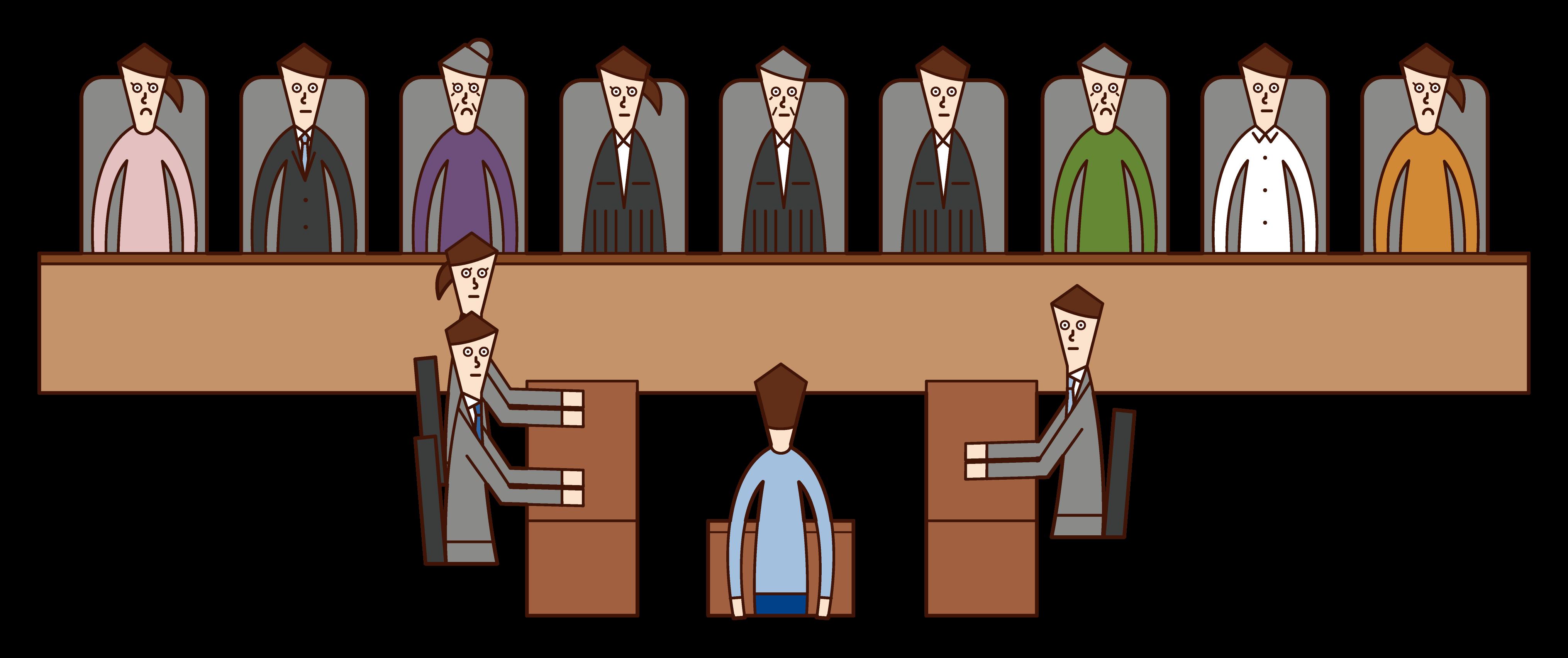 裁判員制度のイラスト