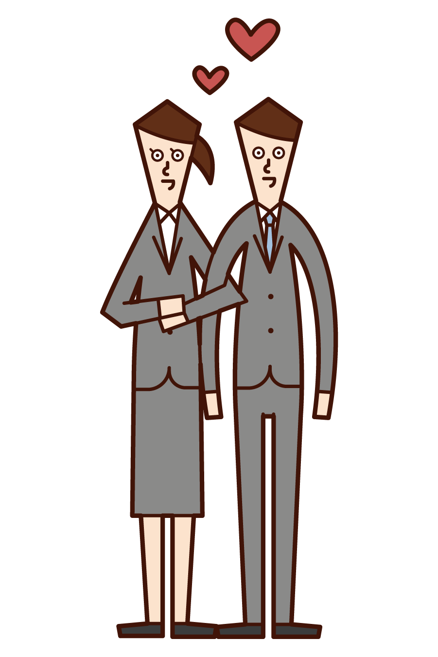 Illustration of in-house romance
