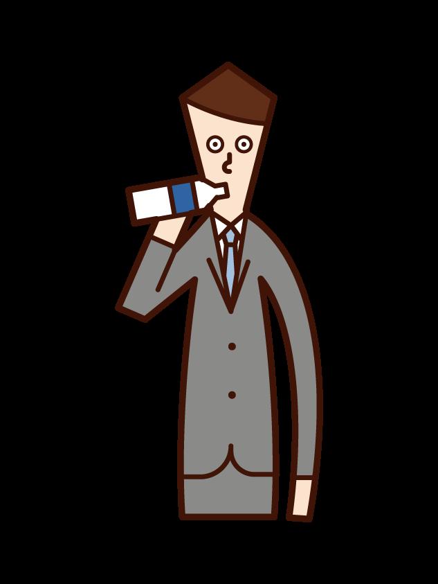 Illustration of a drink drinker (man)