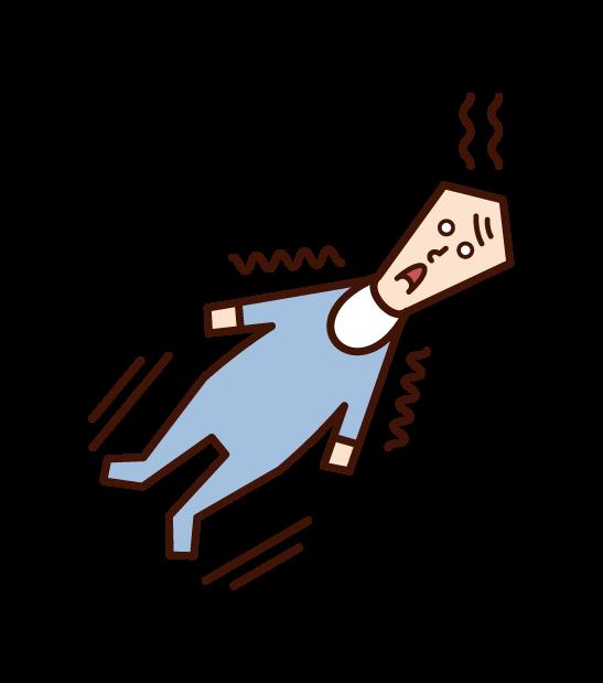 Illustration of febrily convulsions (baby)