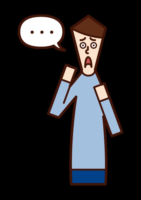 失語症(男性)のイラスト