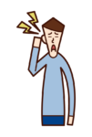 귀 통증과 중이염 (남성)의 그림
