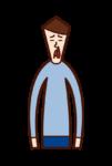 Illustration of nosebleed (male)