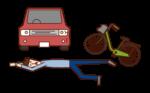交通事故で倒れている人(男性)のイラスト