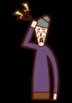 Illustration of head pain (grandmother)